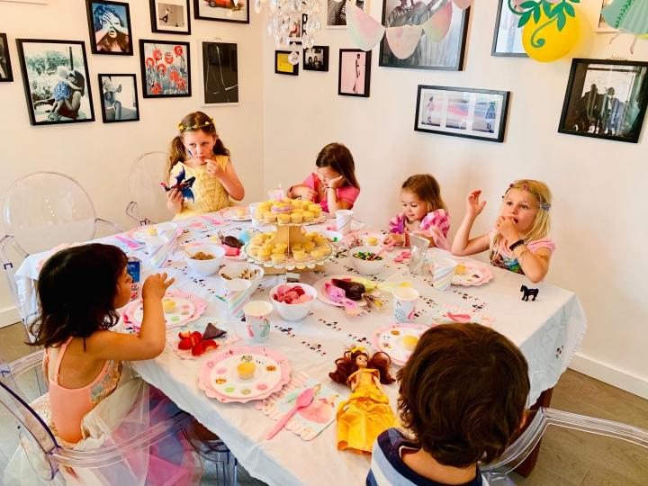 Vivienne's Cupcake birthdayparty!